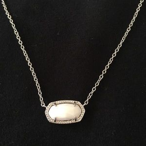 White and Silver Kendra Scott Pendant Necklace